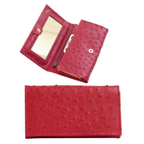 Punane rahakott peegliga