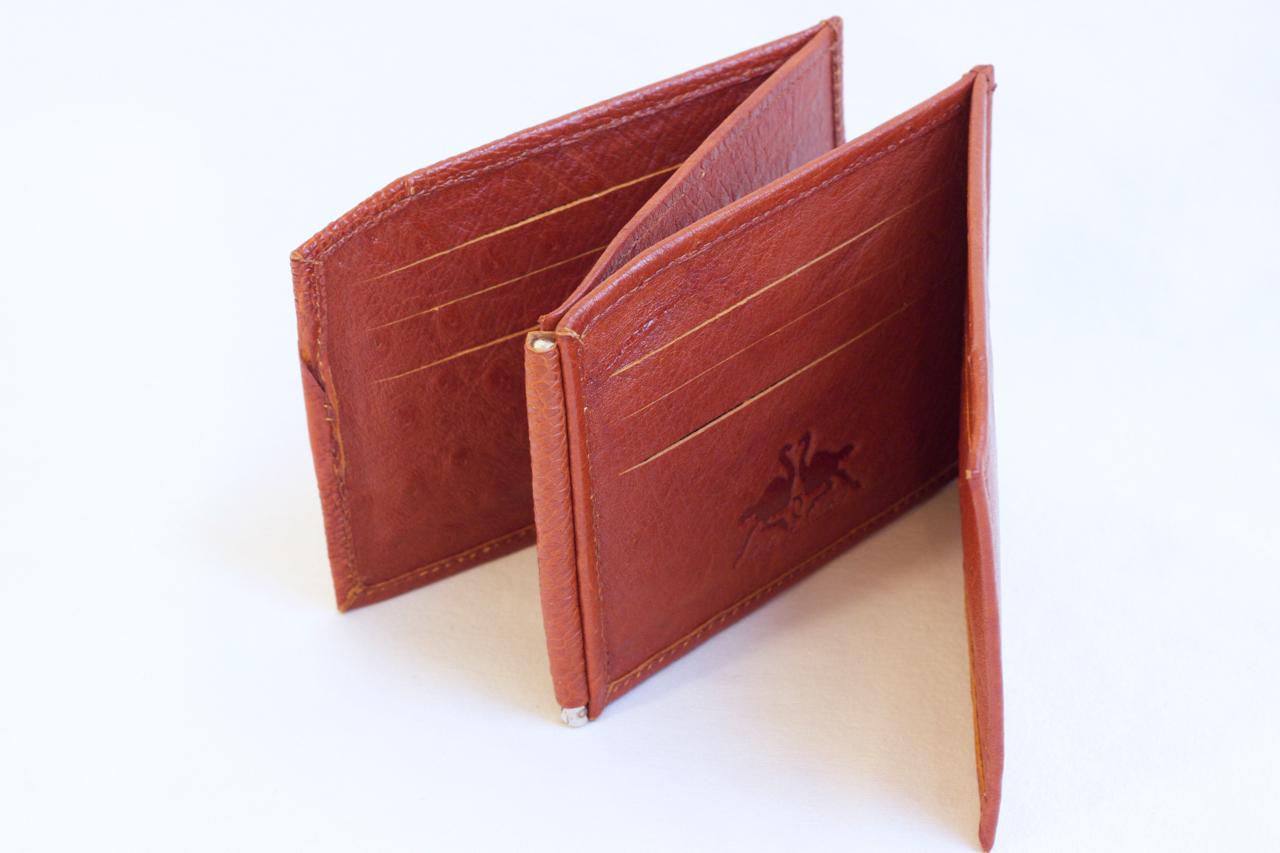 Klambriga rahakott pruun jaanalinnunahast